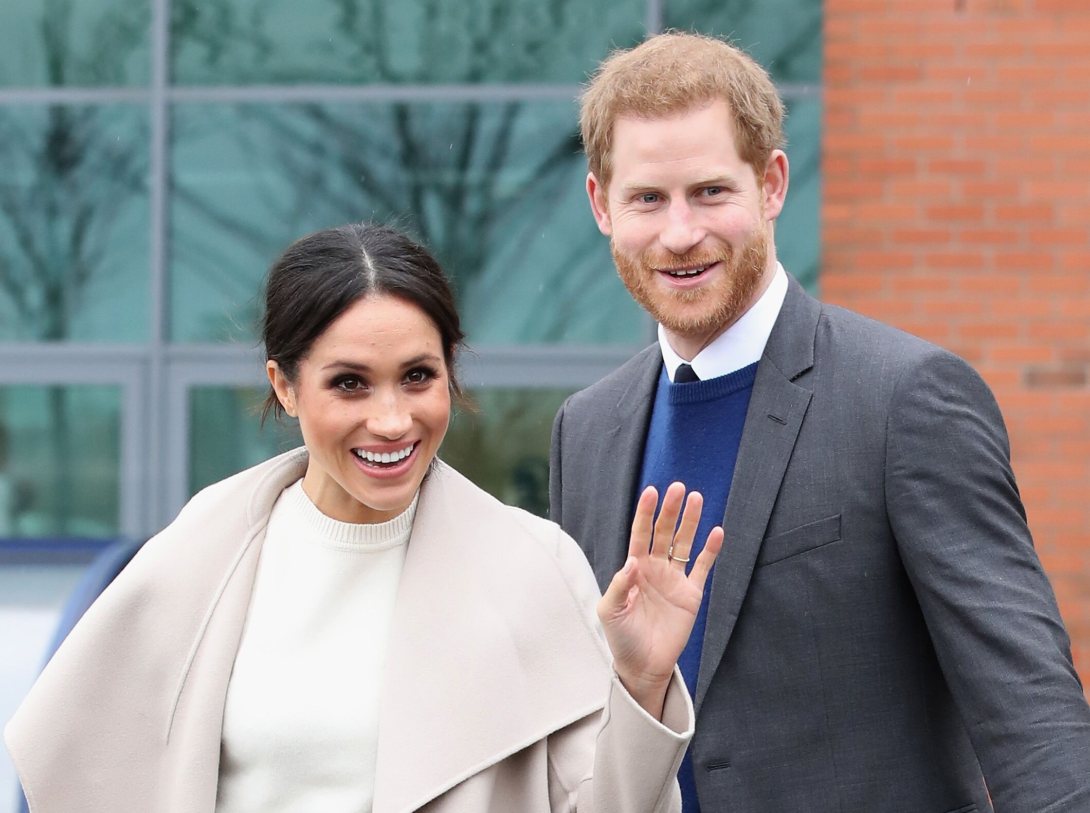 Prince Harry and Meghan Markle depart from Catalyst Inc, Northern Ireland's next generation science park on March 23, 2018   Photo: Getty Images
