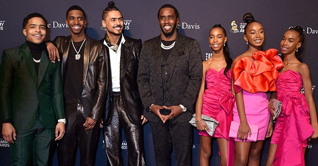 Diddy Was All Smiles as He Was Joined by His 6 Children on the Red Carpet at Clive Davis' Pre-Grammy Gala