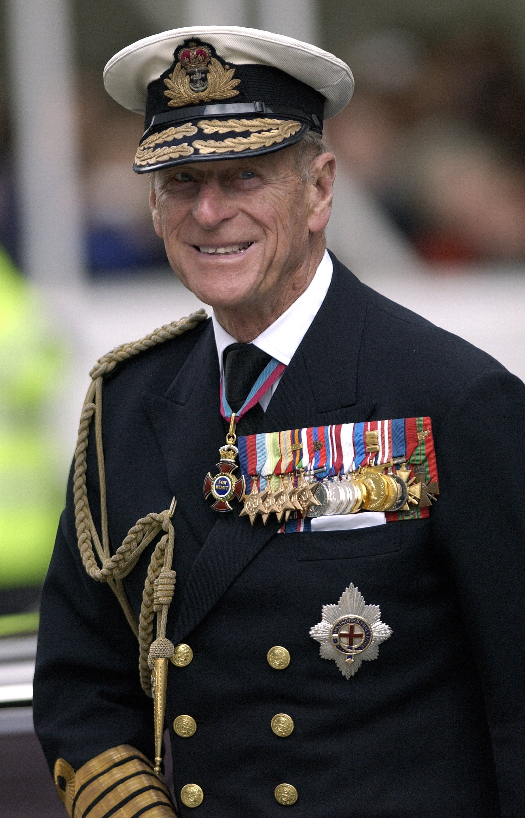 Prince Philip pictured in his Military Uniform As Admiral Of The Fleet for a service remembering the Iraq War. London, England. | Photo: Getty Images