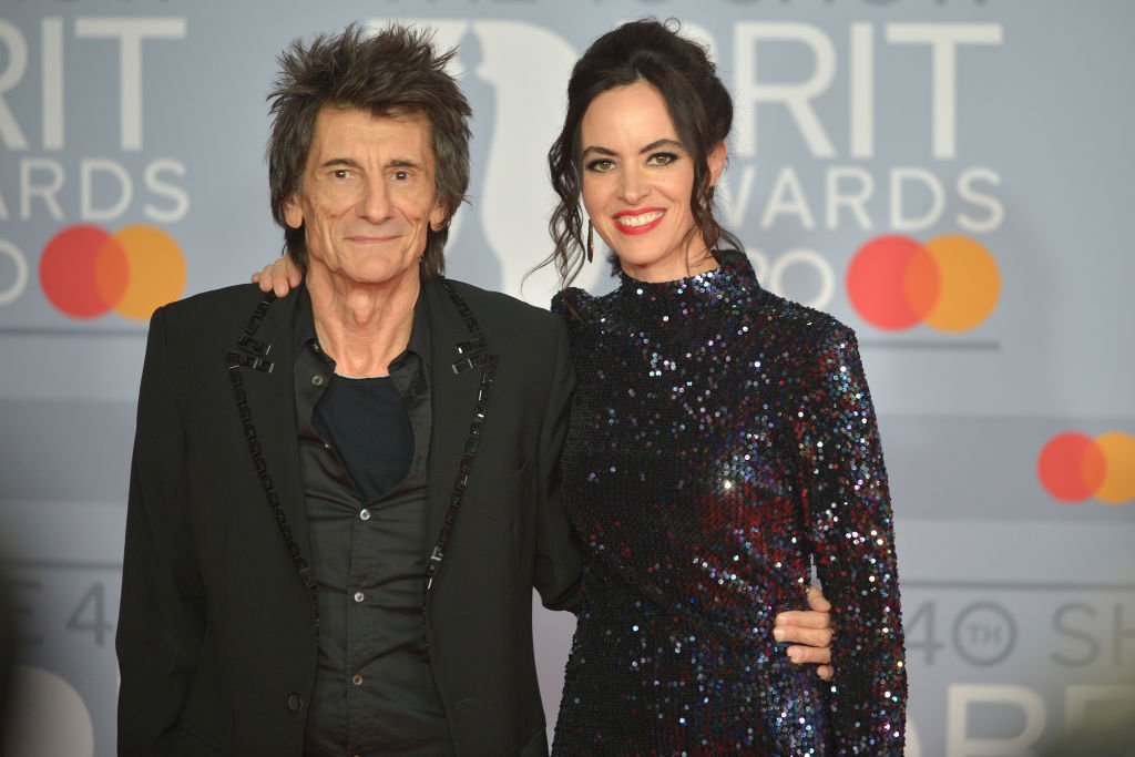Ronnie Wood and Sally Humphreys attend The BRIT Awards 2020 at The O2 Arena on February 18, 2020. | Photo: Getty Images