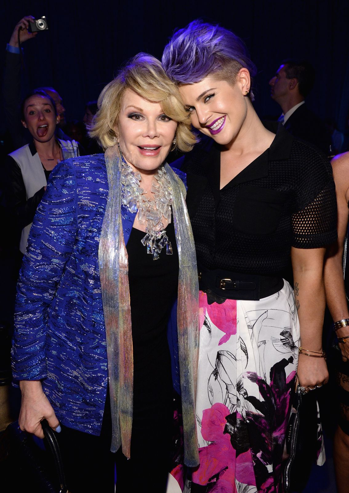 """Joan Rivers and Kelly Osbourne from """"Fashion Police"""" at the Javits Center in New York City on May 15, 2014 