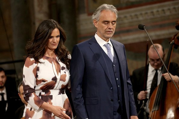Andrea Bocelli and his wife Veronica Berti, attend the Lamp of Peace awards ceremony | Photo: Getty Images