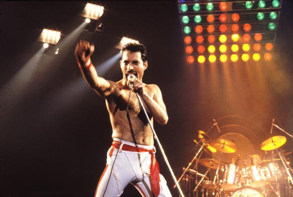 Freddie Mercury at the Various Locations in Oakland, California in 1982. | Photo: Getty Images