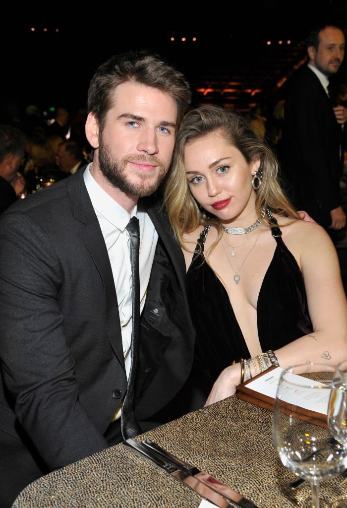 Honoree Liam Hemsworth (L) and Miley Cyrus attend the 2019 G'Day USA Gala at 3LABS on January 26, 2019 in Culver City, California. | Photo: Getty Images