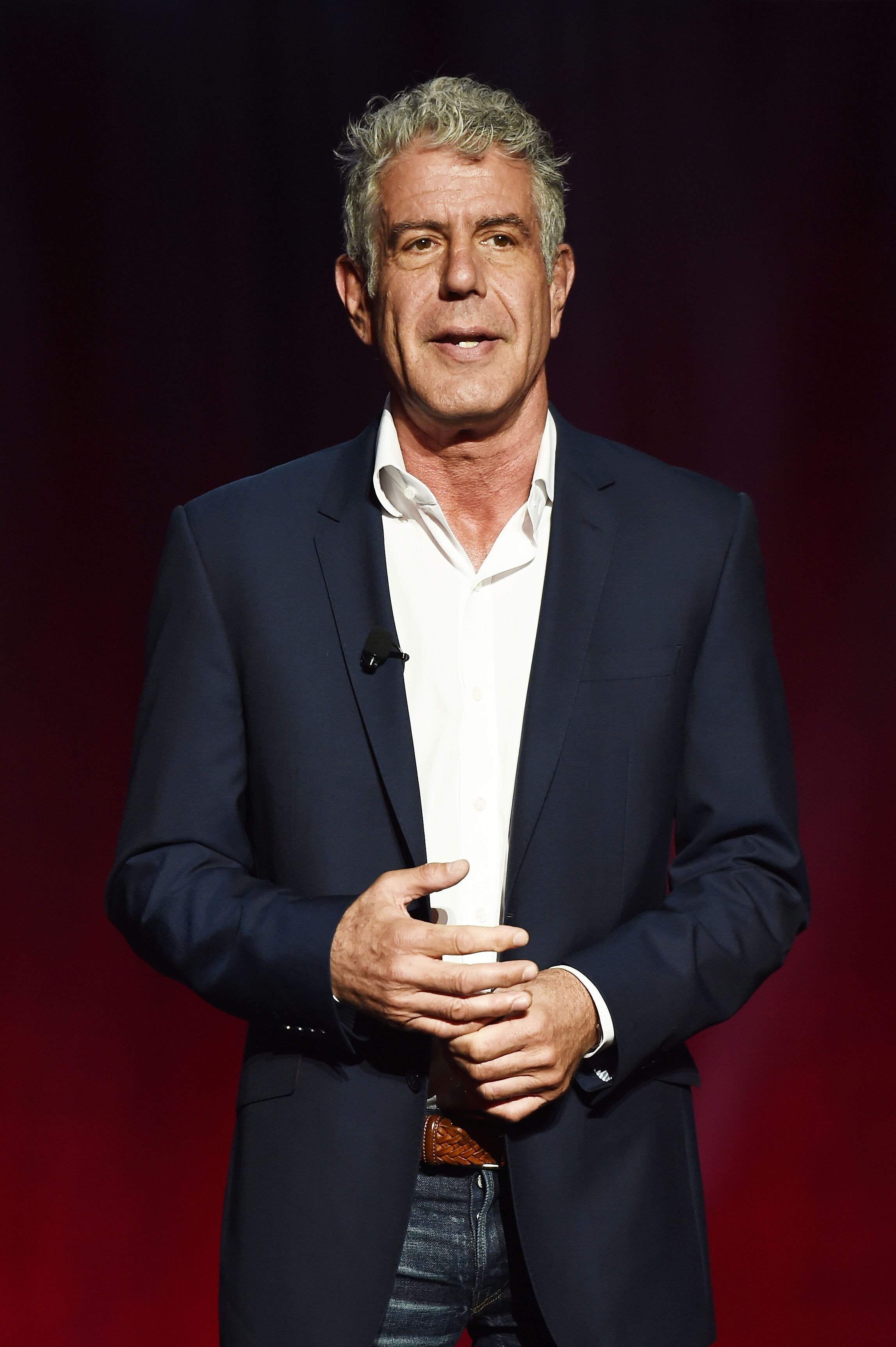 Chef Anthony Bourdain speaks on stage during the Turner Upfront 2016 show at The Theater at Madison Square Garden on May 18, 2016 in New York City | Photo: Getty Images