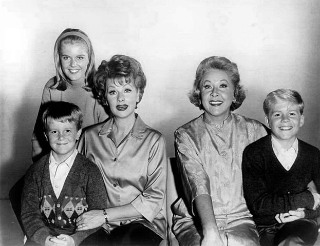 """Vivian Vance and members of the cast of """"The Lucy Show"""" in 1962 