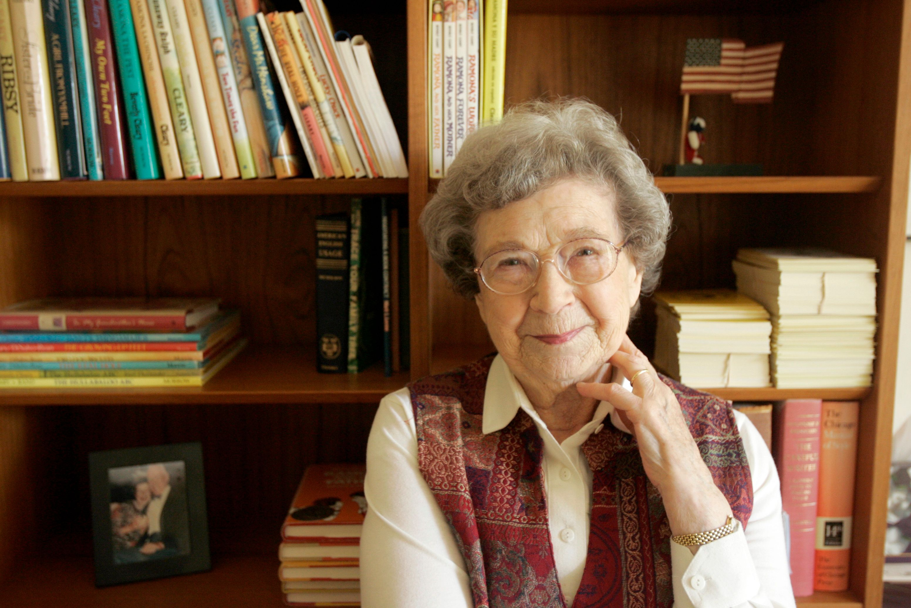 A portrait of Beverly Cleary at home in Carmel Valley on  April 27, 2006   Photo: Getty Images