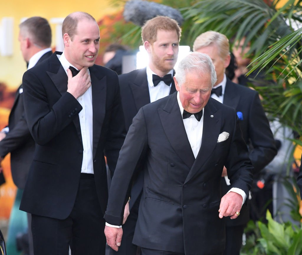 "Prince William, Duke of Cambridge, Prince Harry, Duke of Sussex and Prince Charles, Prince of Wales attend the ""Our Planet"" global premiere at Natural History Museum. 