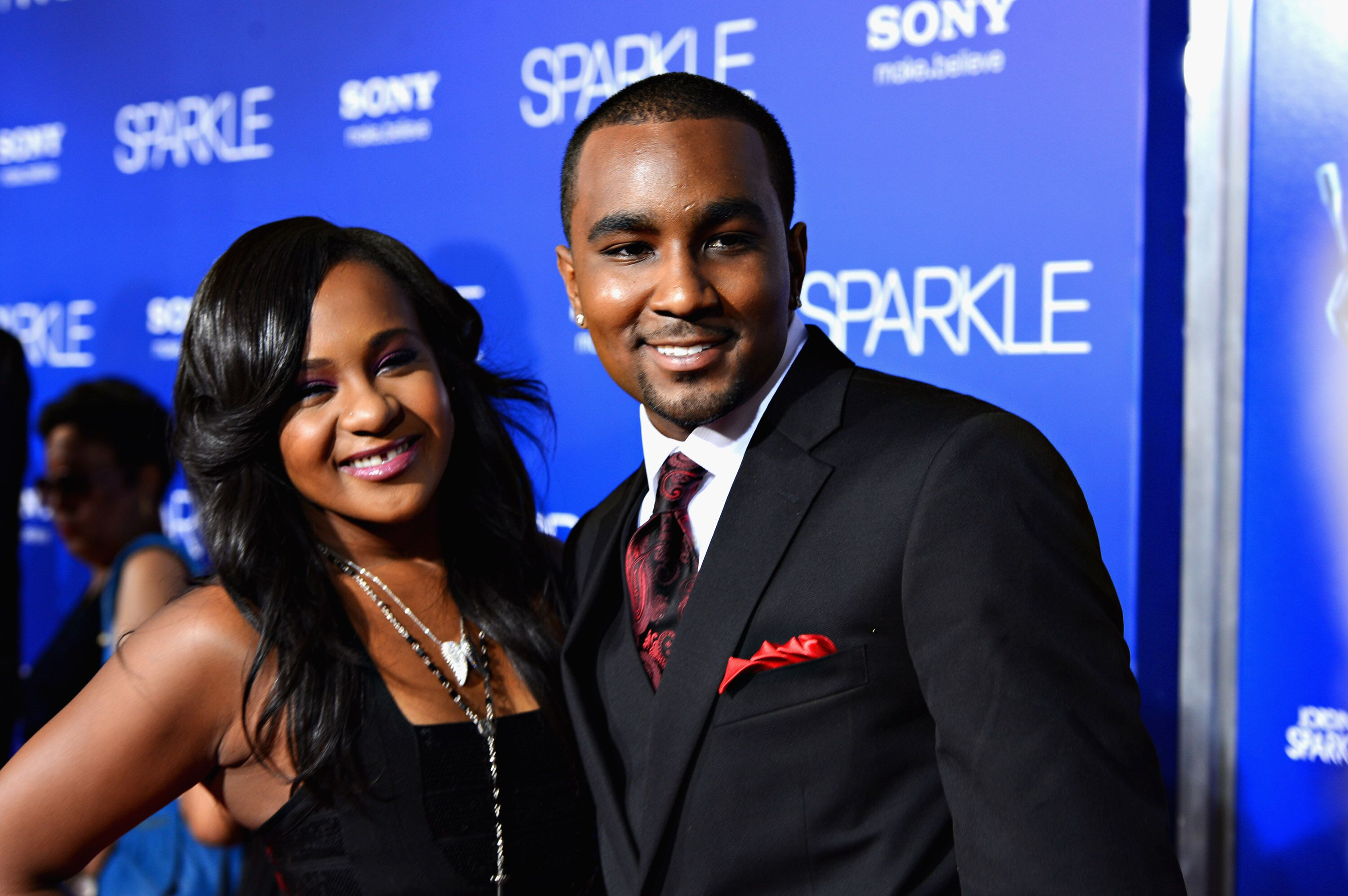 "Bobbi Kristina Brown and Nick Gordon at the ""Sparkle"" premiere in Hollywood in 2012 