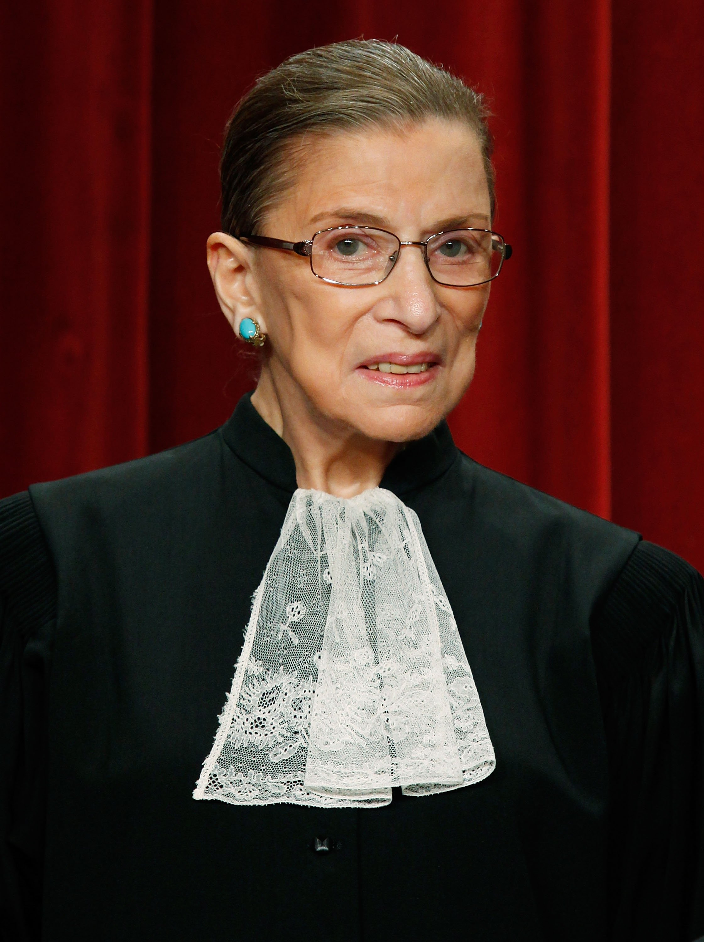 ustice Ruth Bader Ginsburg poses at the Supreme Court building on September 29, 2009, in Washington, DC. | Source: Getty Images.