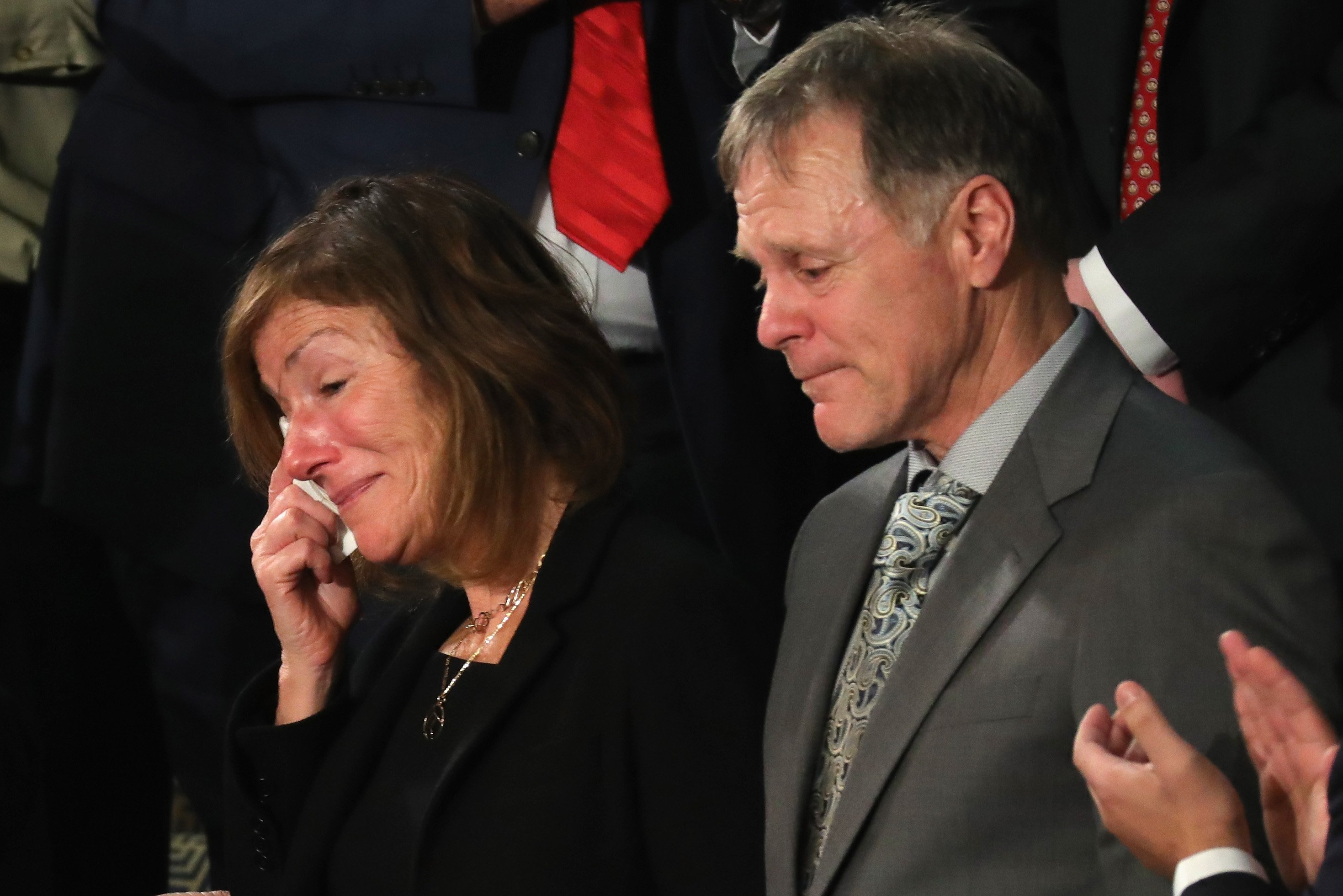 Fred and Cindy Warmbier, 22-year-old Otto Warmbier's bereaved parents. Source: Getty Images/Global Images Ukraine