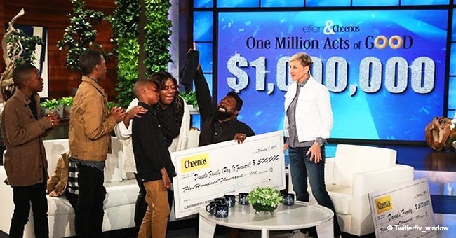Glückliche Familie mit Herz, die zu sechst in 2-Zimmer-Wohnung wohnt erhält 1 Million Dollar