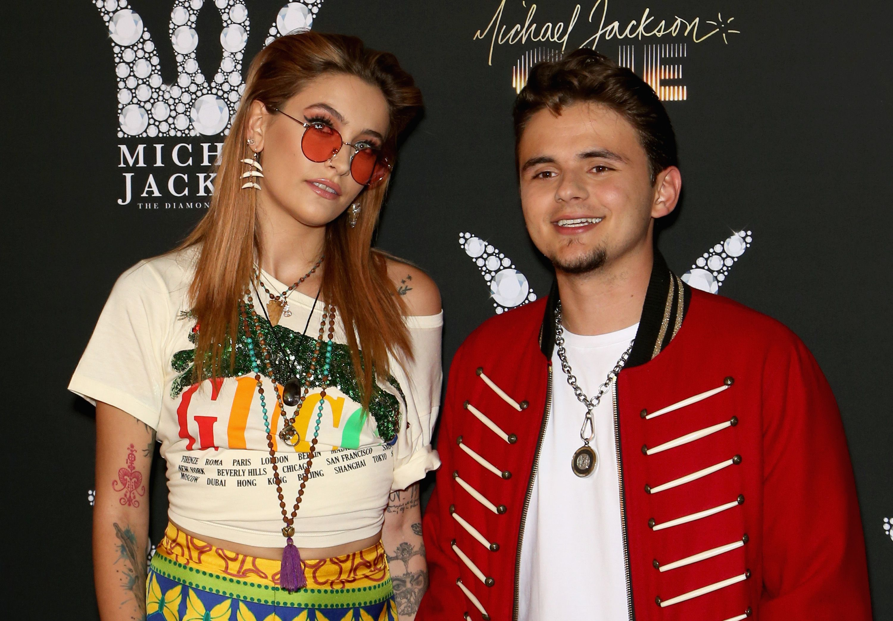 Paris Jackson and her brother Prince Michael Jackson at the Michael Jackson diamond birthday celebration at Mandalay Bay Resort and Casino on August 29, 2018 in Las Vegas, Nevada.   Photo: Getty Images