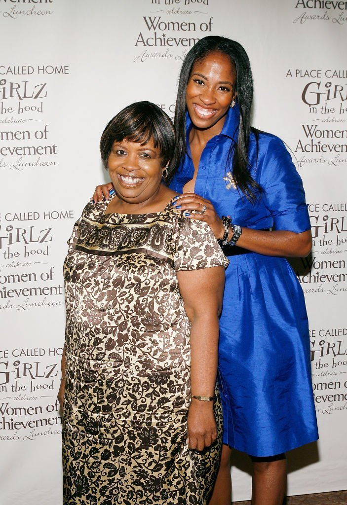 Eunetta Boone (L) and actress Shondrella Avery pose at the annual Girlz in the Hood Women of Achievement Awards Luncheon | Source: Getty Images