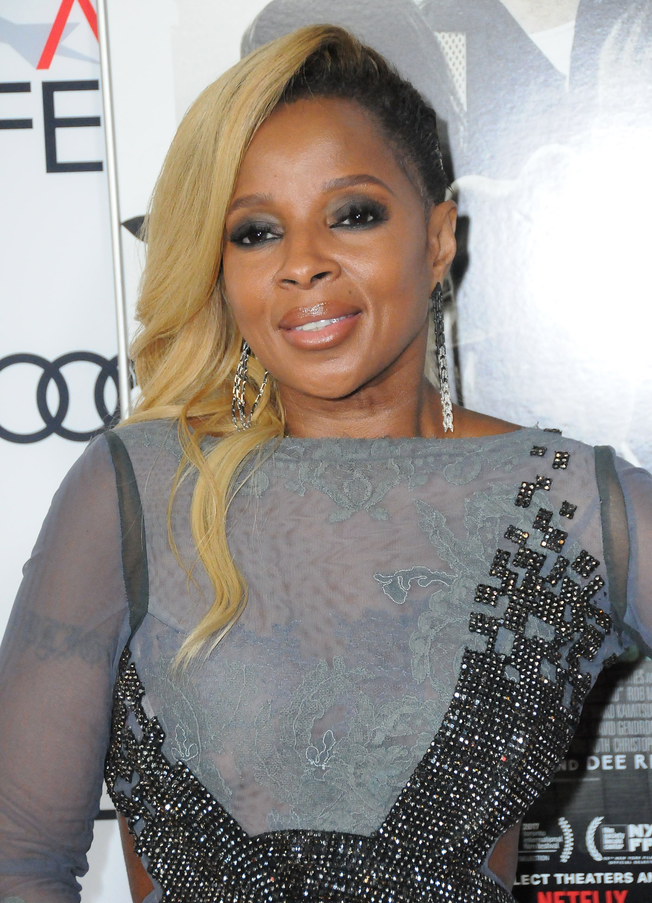 """Mary J Blige at the screening of Netflix's """"Mudbound"""" in November 2017. 
