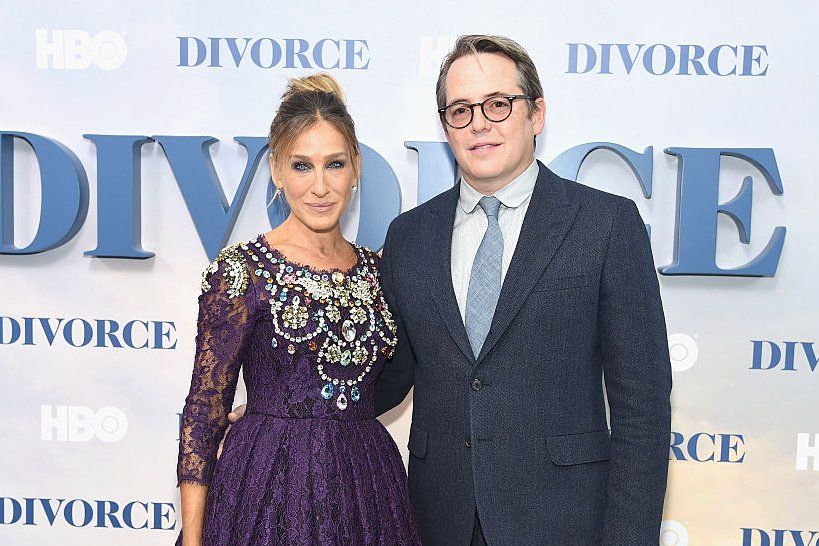 """Sarah Jessica Parker and Matthew Broderick attend the """"Divorce"""" New York premiere at SVA Theater on October 4, 2016 in New York City 