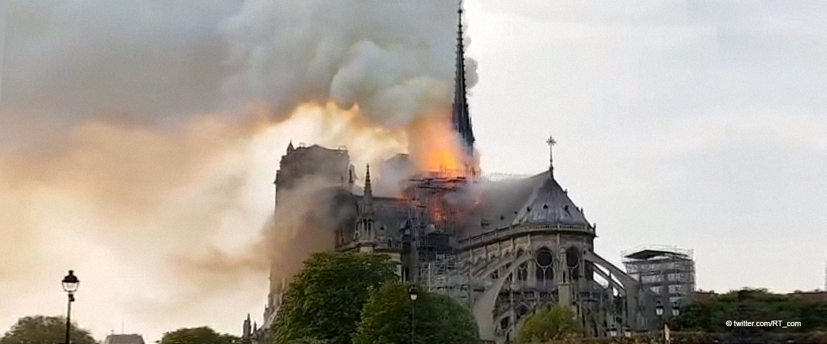 Notre Dame Cathedral in Paris Is on Fire