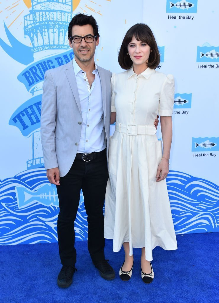 Producer Jacob Pechenik and actress Zooey Deschanel attend the 2018 Heal The Bay's Bring Back The Beach Awards Gala at The Jonathan Club. | Photo: Getty Images
