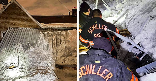 Firefighters Rescue a Woman Trapped in the Cold for 10 Hours under Snow & Ice Covered Awning