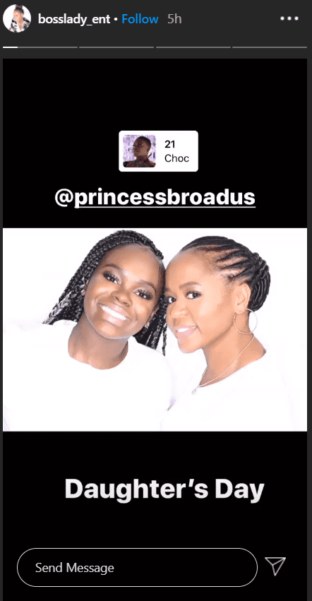 Image of Snoop Dogg's wife Shante Broadus and their daughter Cori | Photo: Instagram/bosslady_ent