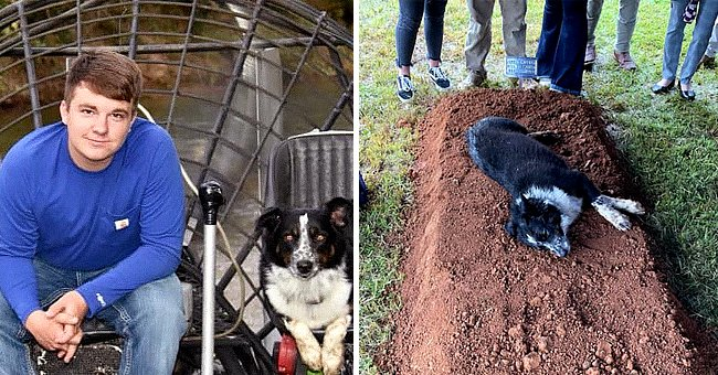 Mom of Slain 22-Year-Old Shares Heartbreaking Photo of His Dog's Reaction after His Burial