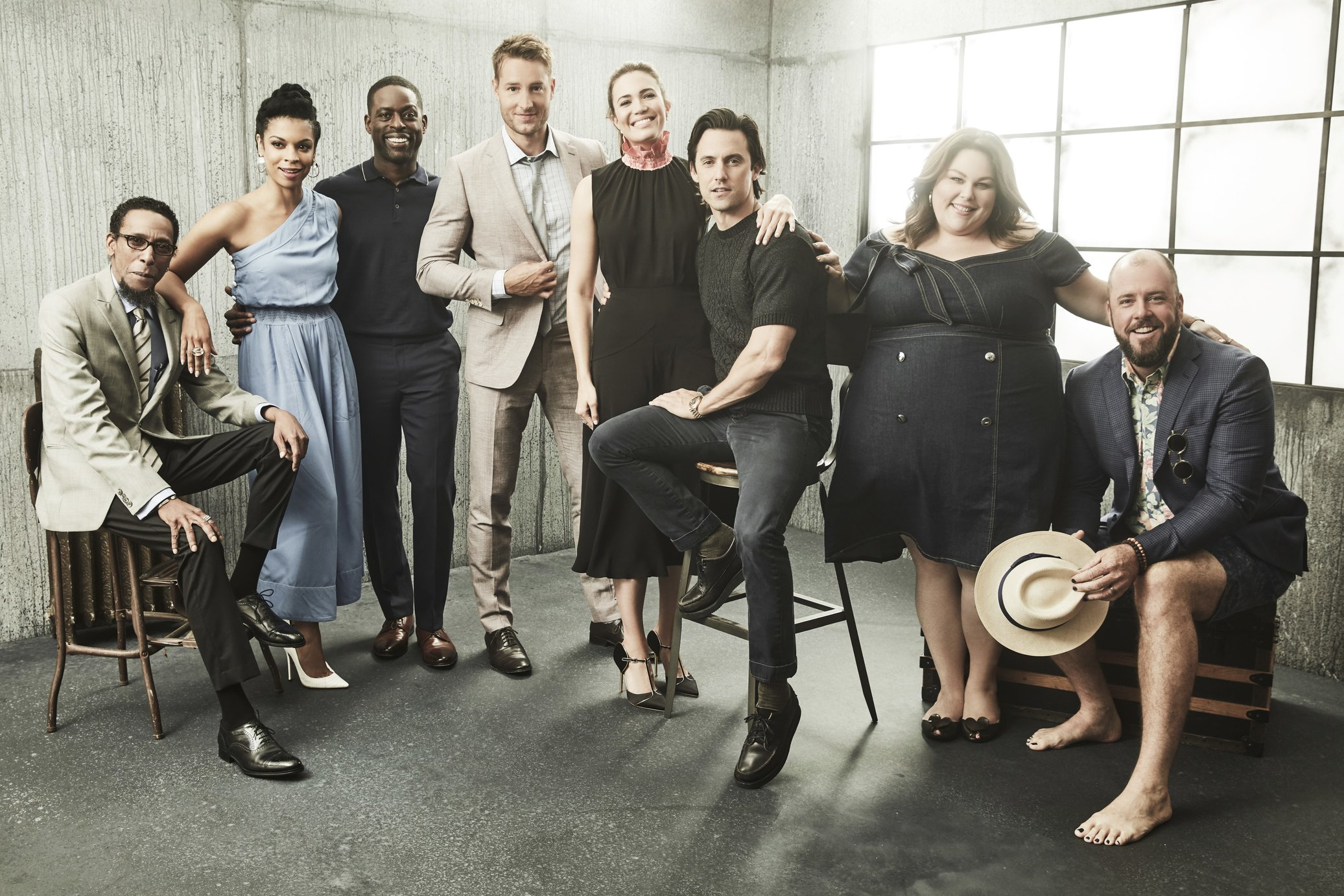 August 2017 -- Pictured: Ron Cephas Jones, Susan Kelechi Watson, Sterling K. Brown, Chrissy Metz, Mandy Moore, Milo Ventimiglia, Justin Hartley, Chris Sullivan   | Photo: GettyImages