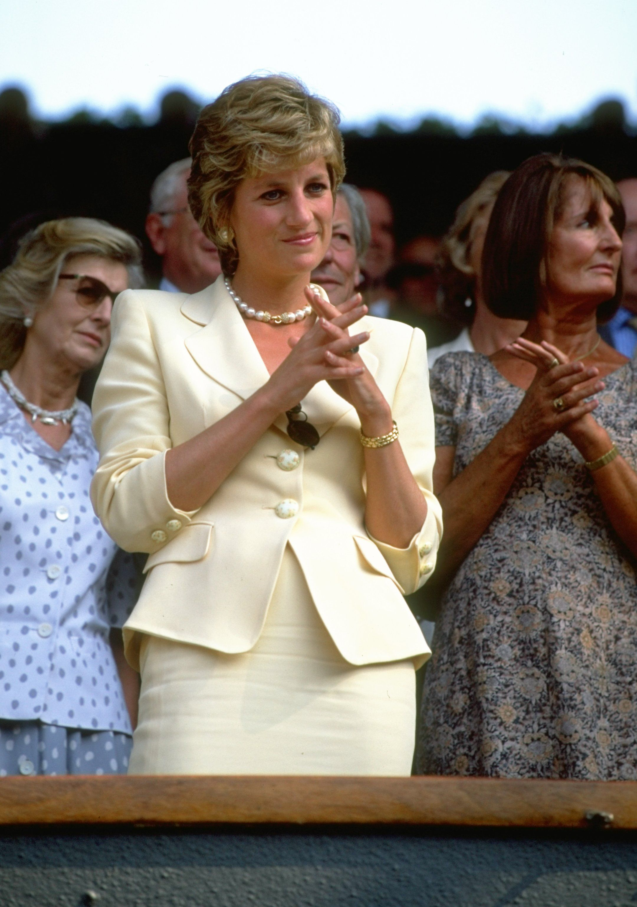 Diana, Princess of Wales at the Lawn Tennis Championships at Wimbledon in 1995   Source: Getty Images