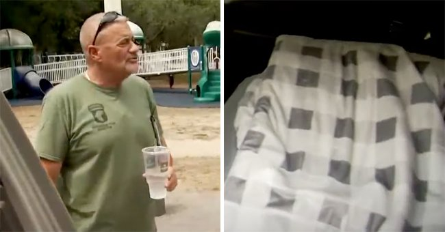 Army Veteran Roger Hartnett wearing a green T-Shirt while holding a cup of water. | Photo: youtube.com/WFLA News Channel 8