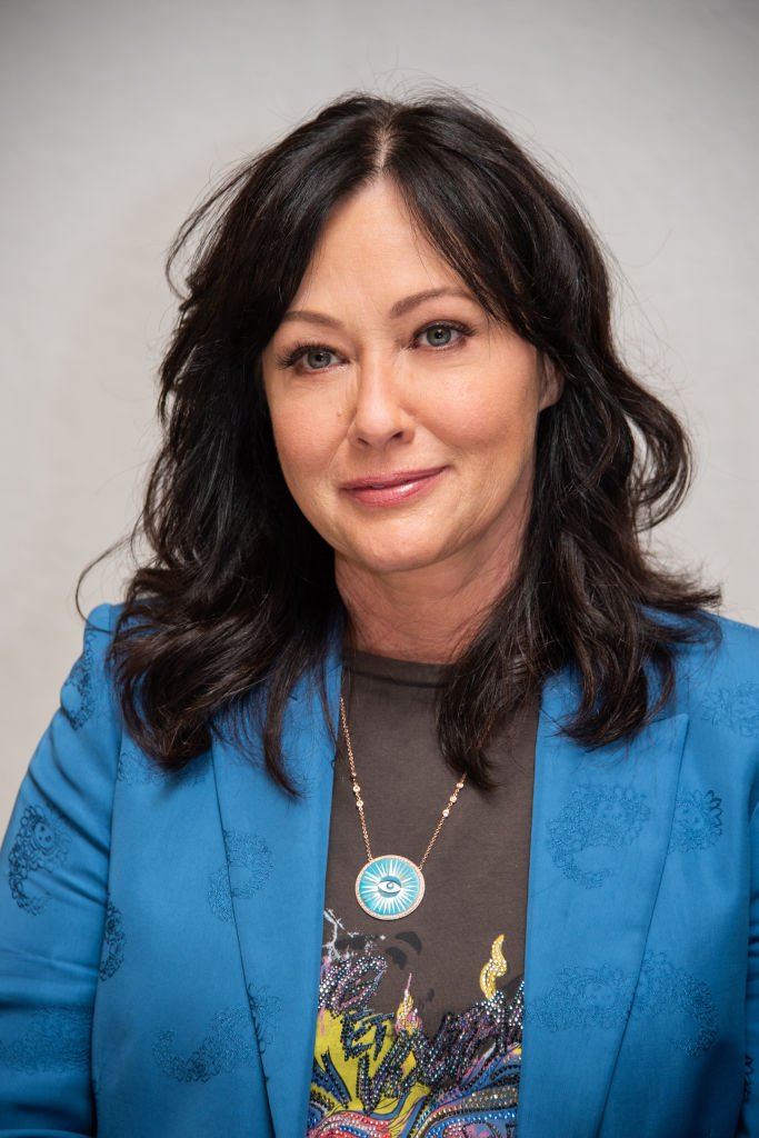 "Shannen Doherty at the ""BH90210"" Press Conference on August 08, 2019, in Beverly Hills, California 