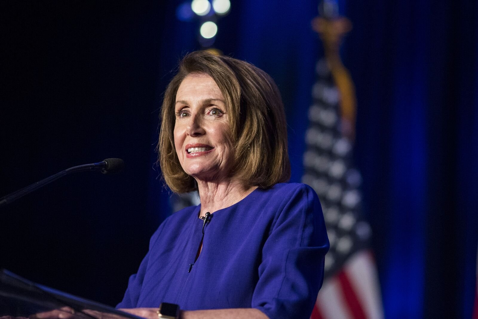Nancy Pelosi at a DCCC election watch party on November 6, 2018, in Washington, DC. | Photo: Zach Gibson/Getty Images