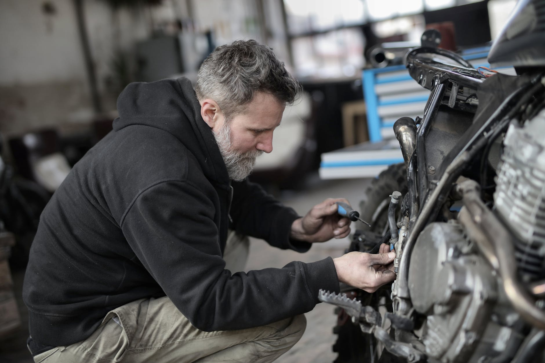 He kept his promise and worked as a mechanic.   Source: Pexels