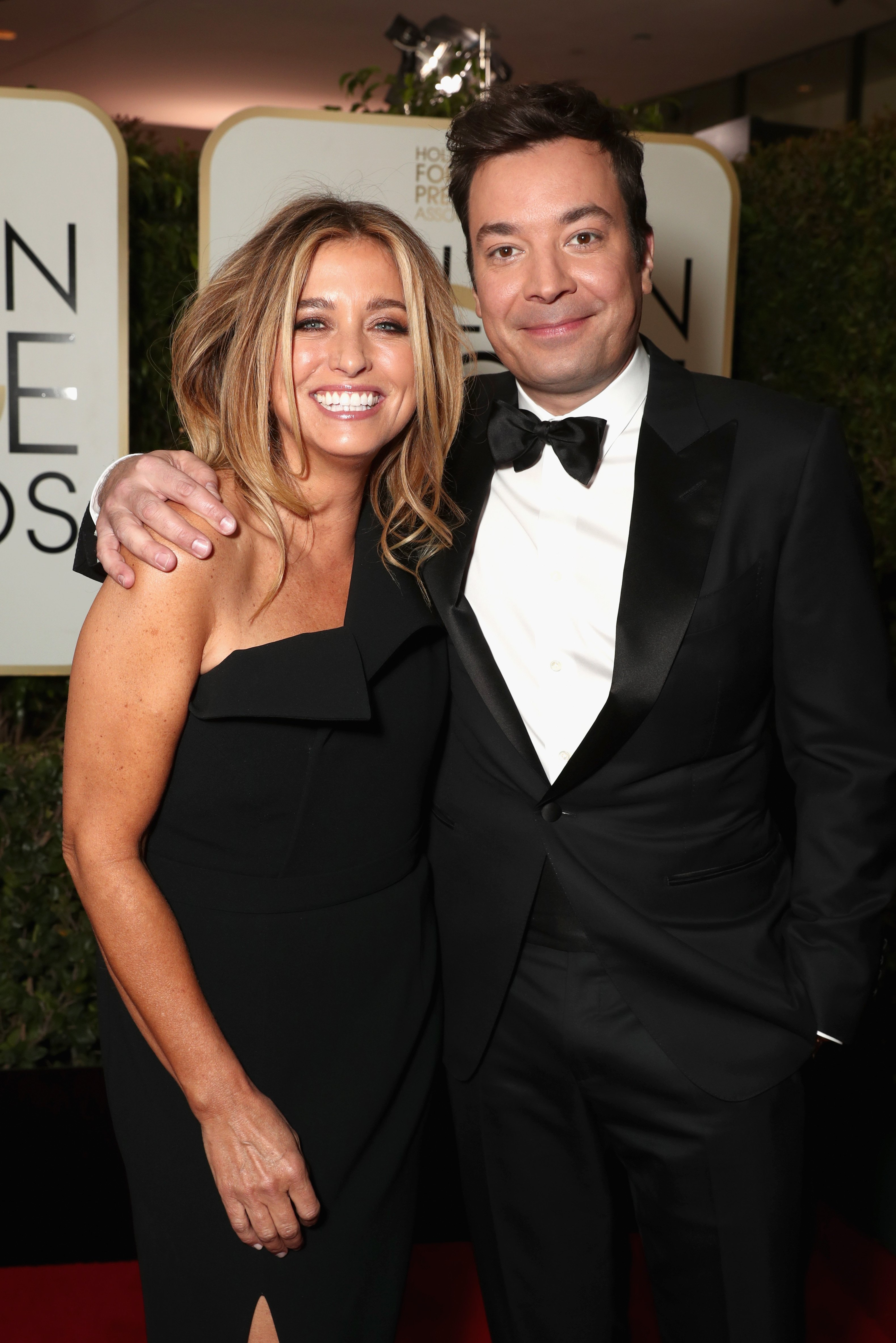 Nancy Juvonen and host Jimmy Fallon attends the 74th Annual Golden Globe Awards at The Beverly Hilton Hotel on January 8, 2017 in Beverly Hills, California. | Photo: GettyImages