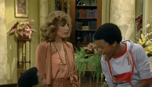 "Dana Plato on the set of television show ""Diff'rent Strokes"" 1983-03-09. 