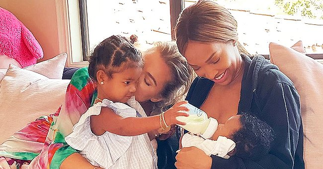 See Khloé Kardashian's Daughter True Feed Malika Haqq's Baby Son Ace in a Touching Photo