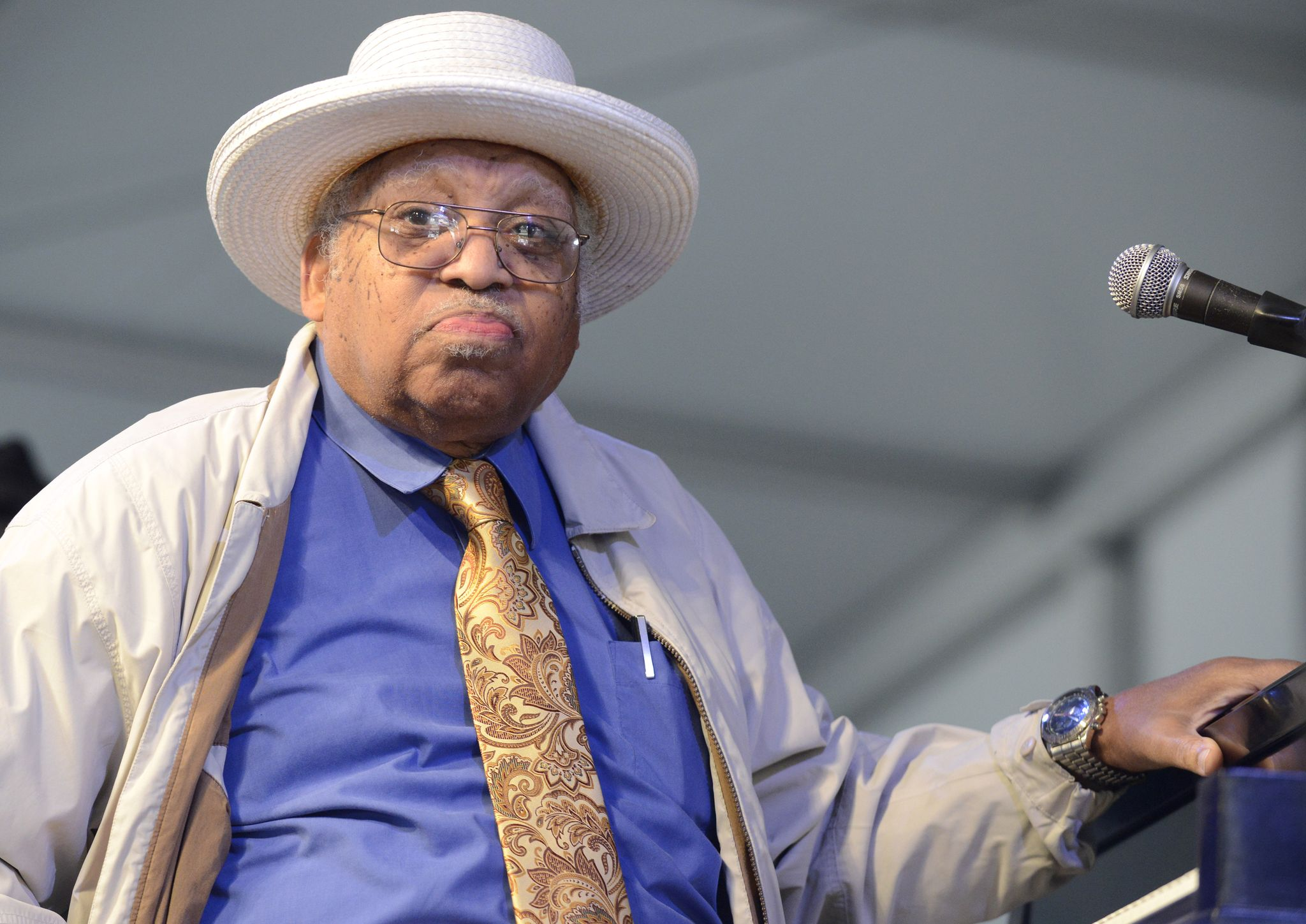 Ellis Marsalis performs as part of the 2013 New Orleans Jazz & Heritage Festival at Fair Grounds Race Course on May 5, 2013 | Photo: Getty Images