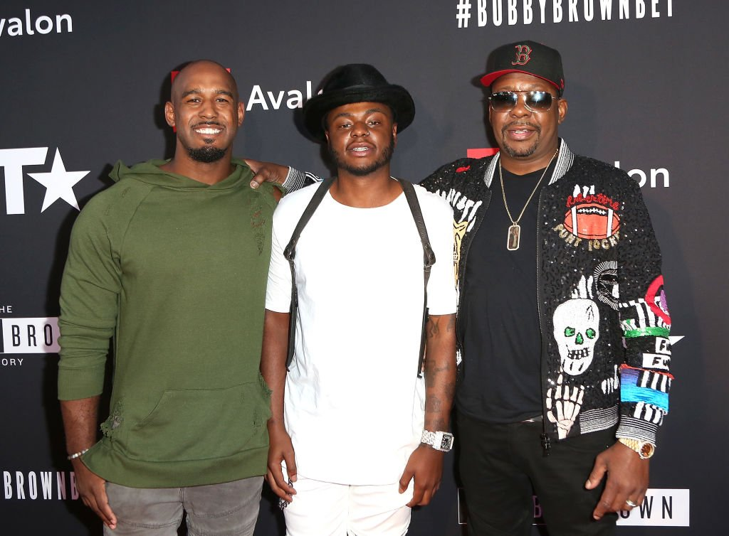 """Landon Brown, Bobby Brown Jr., and Bobby Brown at the premiere screening of """"The Bobby Brown Story"""" by BET and Toyota at Paramount Studios on August 29, 2018 in Hollywood   Photo: Getty Images"""