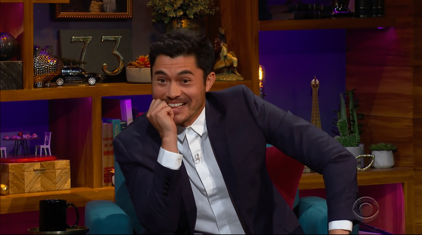Screenshot of video of Henry Golding's interview with James Corden from November 7, 2020.   Source: YouTube/ The Late Late Show with James Corden