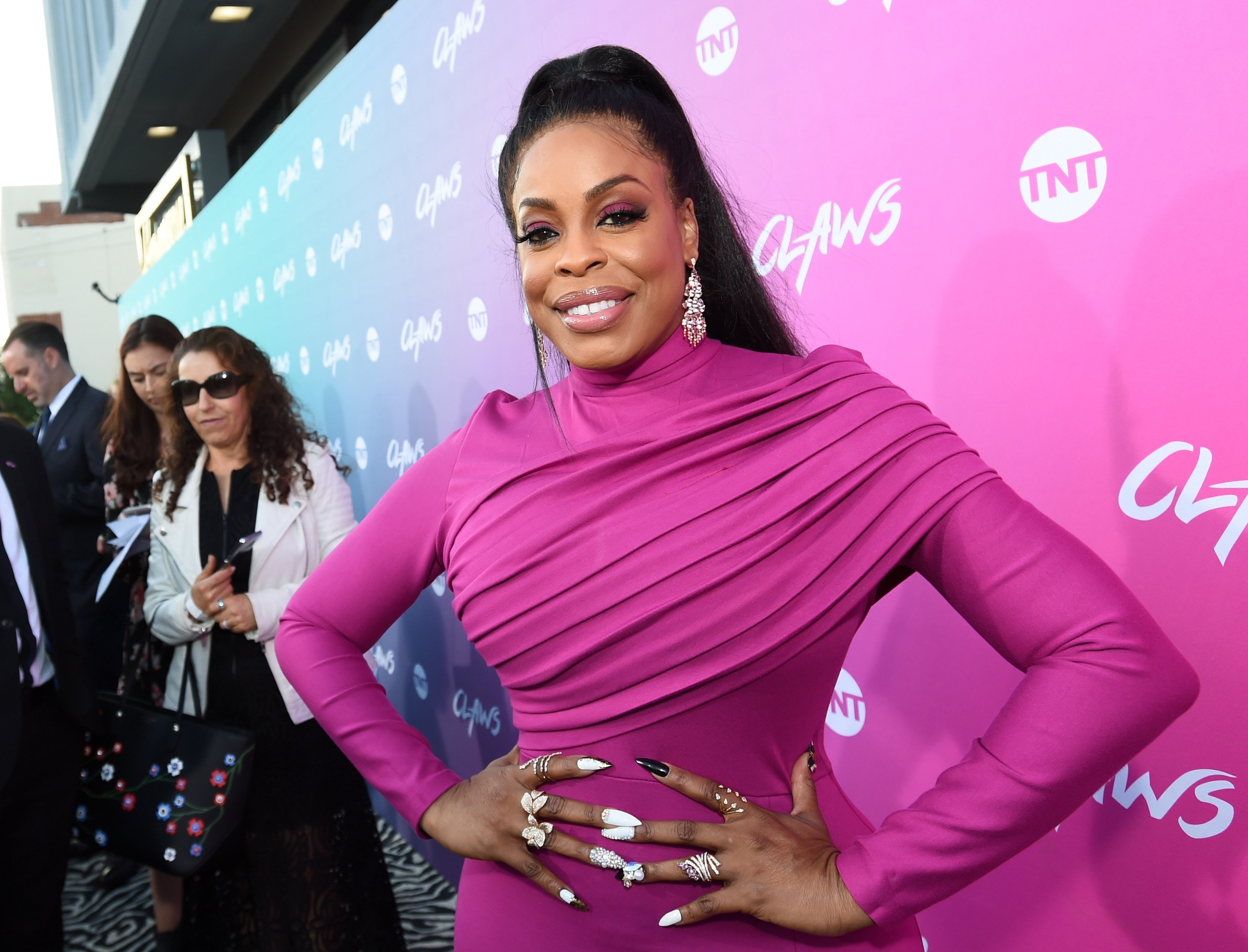 """Niecy Nash at the  """"Claws"""" premiere at Harmony Gold Theatre on June 1, 2017 in Los Angeles, California.