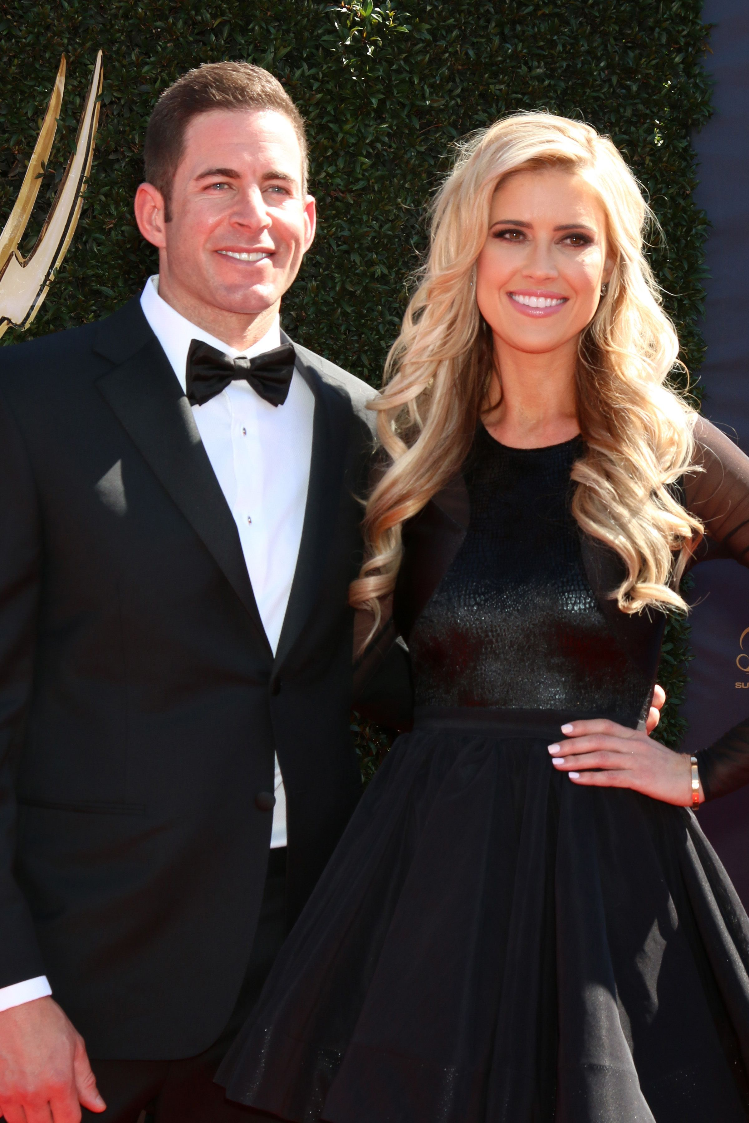 Tarek and Christina El Moussa at the 44th Daytime Emmy Awards on April 30, 2017, in Pasadena, California | Photo: Shutterstock/Kathy Hutchins