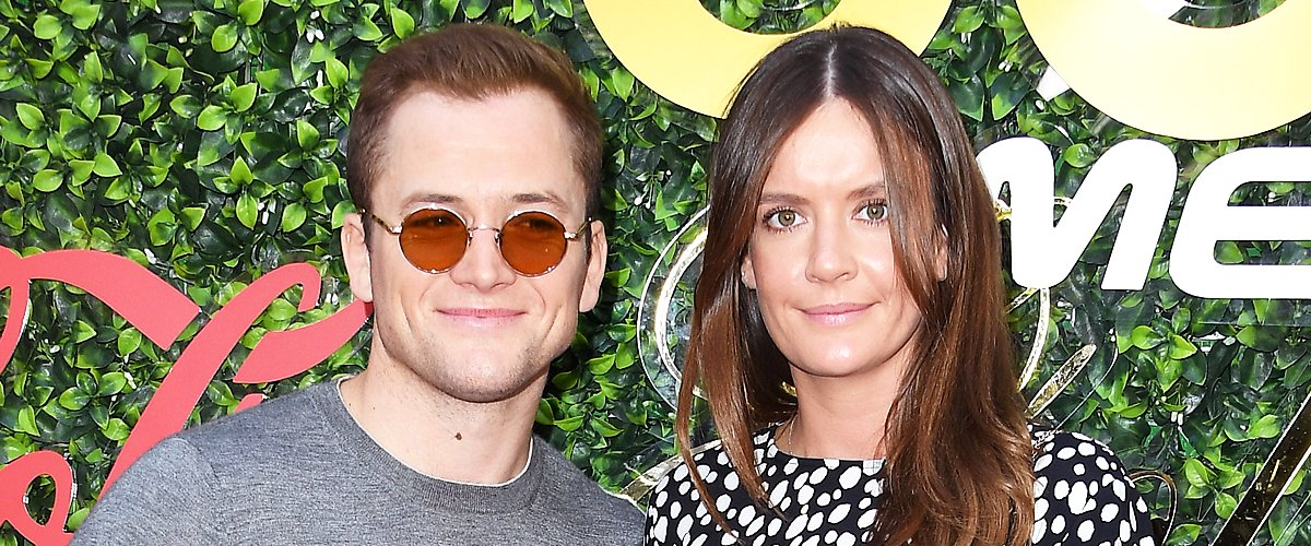 Taron Egerton, Emily Thomas at the 7th Annual Gold Meets Golden at Virginia Robinson Gardens and Estate on January 04, 2020 | Photo: Getty Images