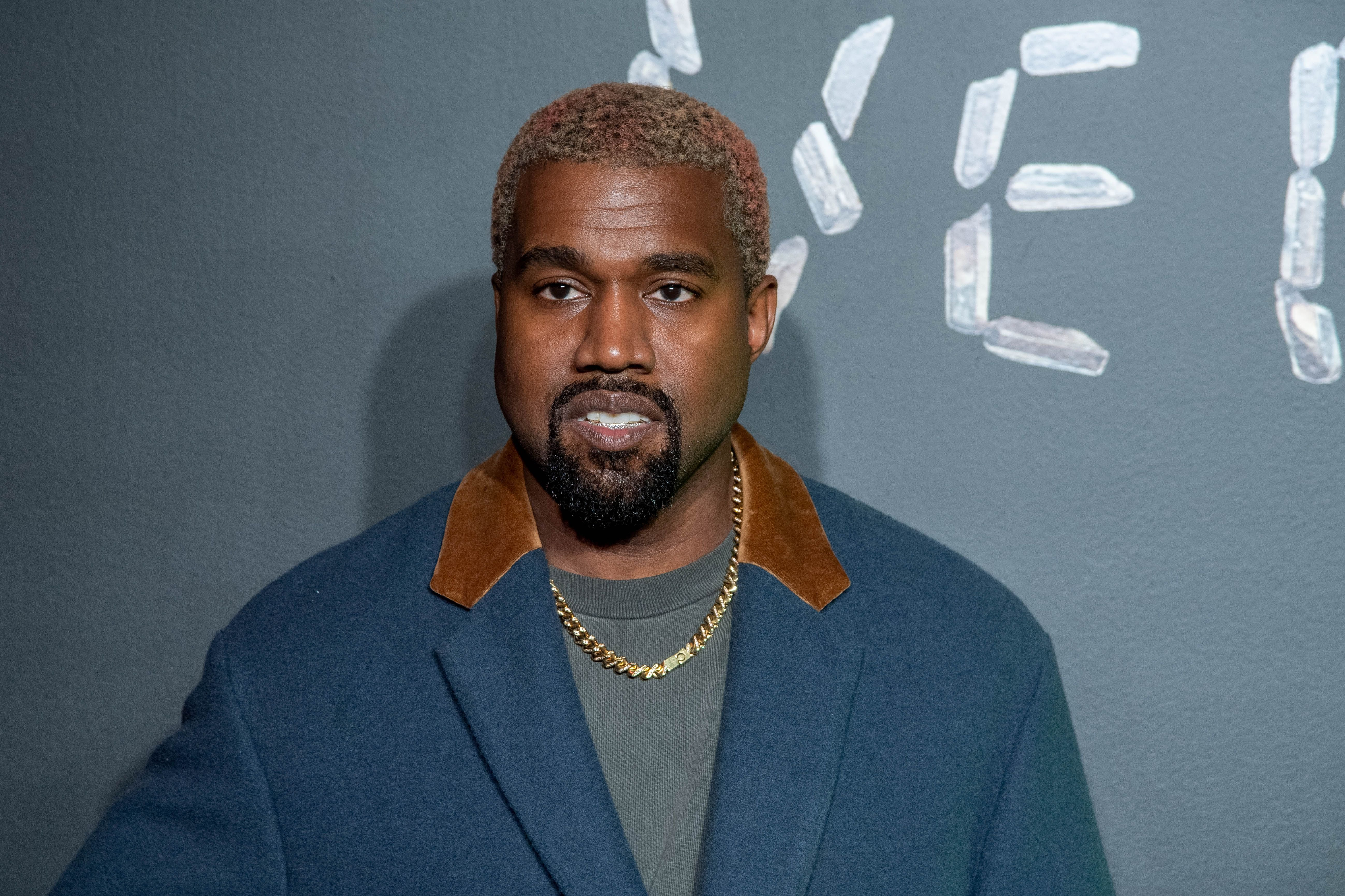 Kanye West at the December 2018 Versace fashion show in New York | Source:Getty Images