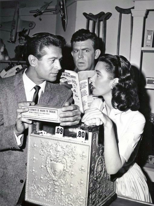Andy Griffith, Elinor Donahue and George Nader, circa 1960s. | Photo: Wikimedia Commons