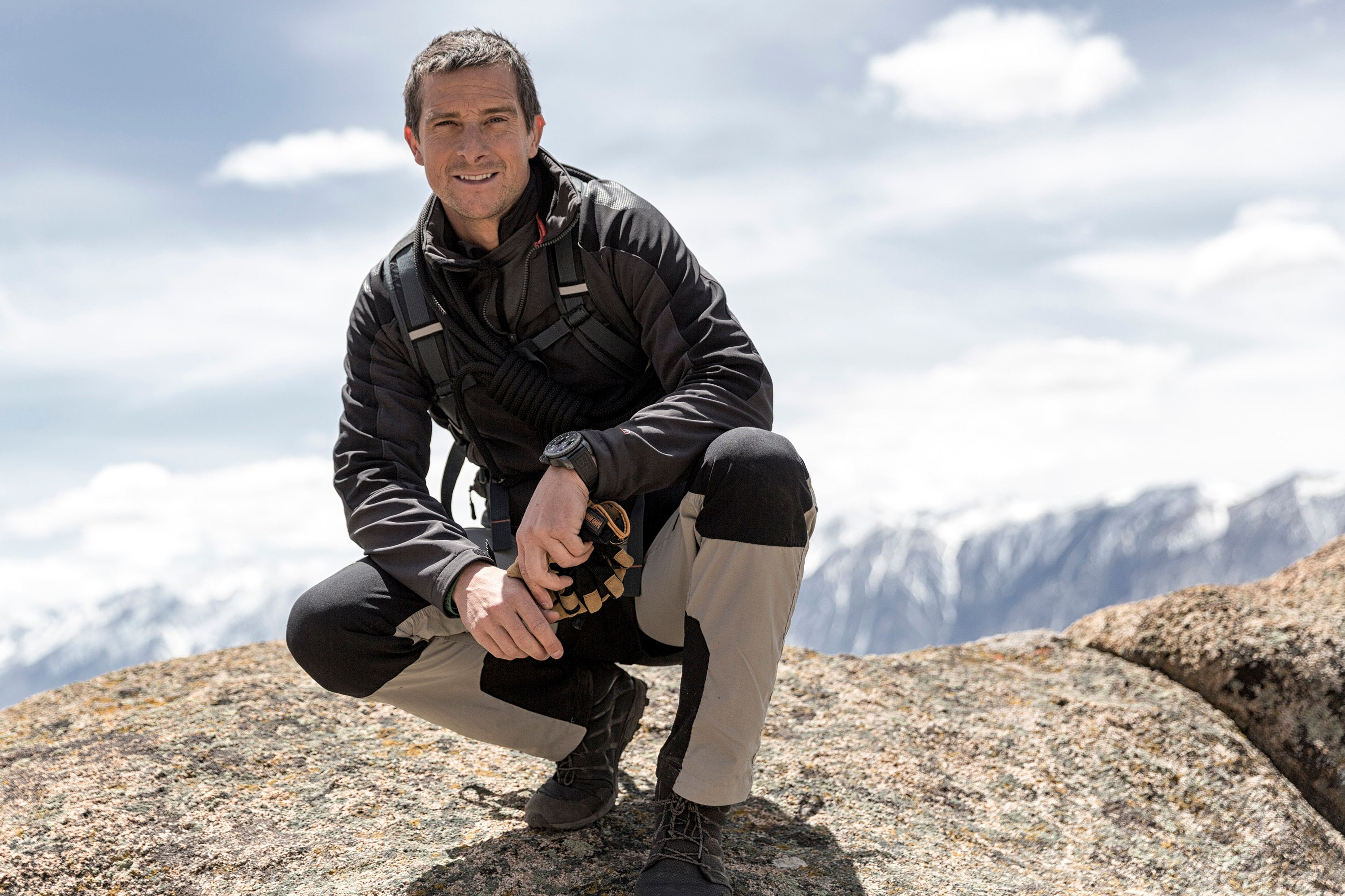 "Bear Grylls in the middle of filming his series ""Running Wild with Bear Grylls"" in 2016. I Image: Getty Images."