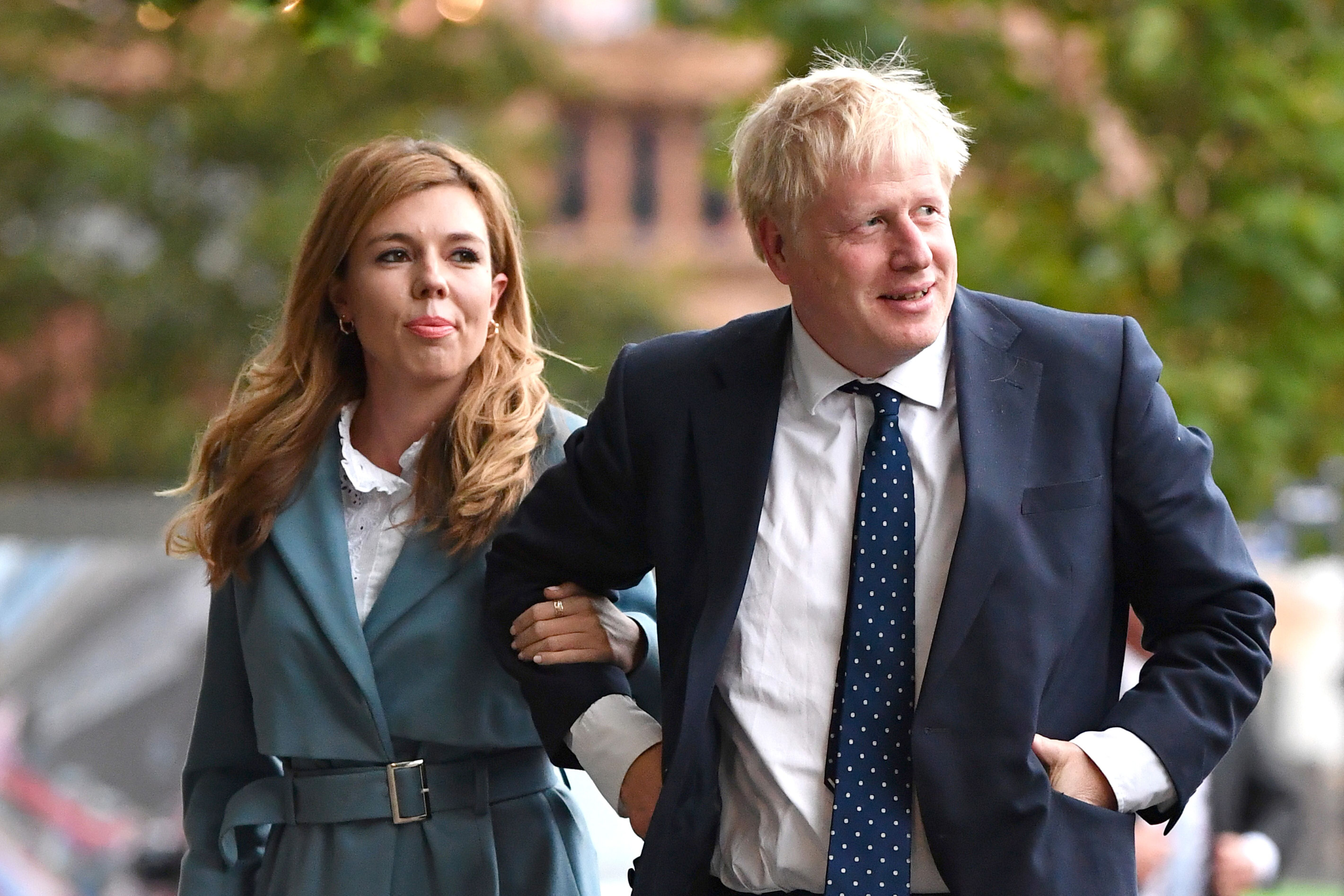 Carrie Symonds and Boris Johnson at the Conservative Party Conference on September 28, 2019, in Manchester, England | Photo: Getty Images