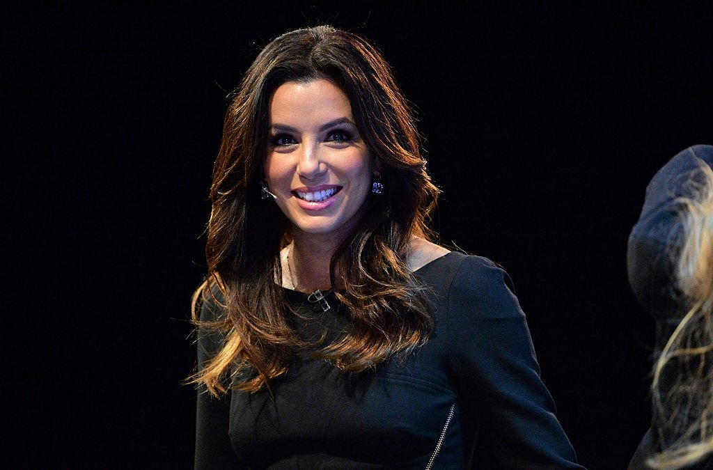Eva Longoria appears on stage during Day 1 of the 2014 Web Summit at the RDS on November 4, 2014, in Dublin, Ireland. | Source: Getty Images.