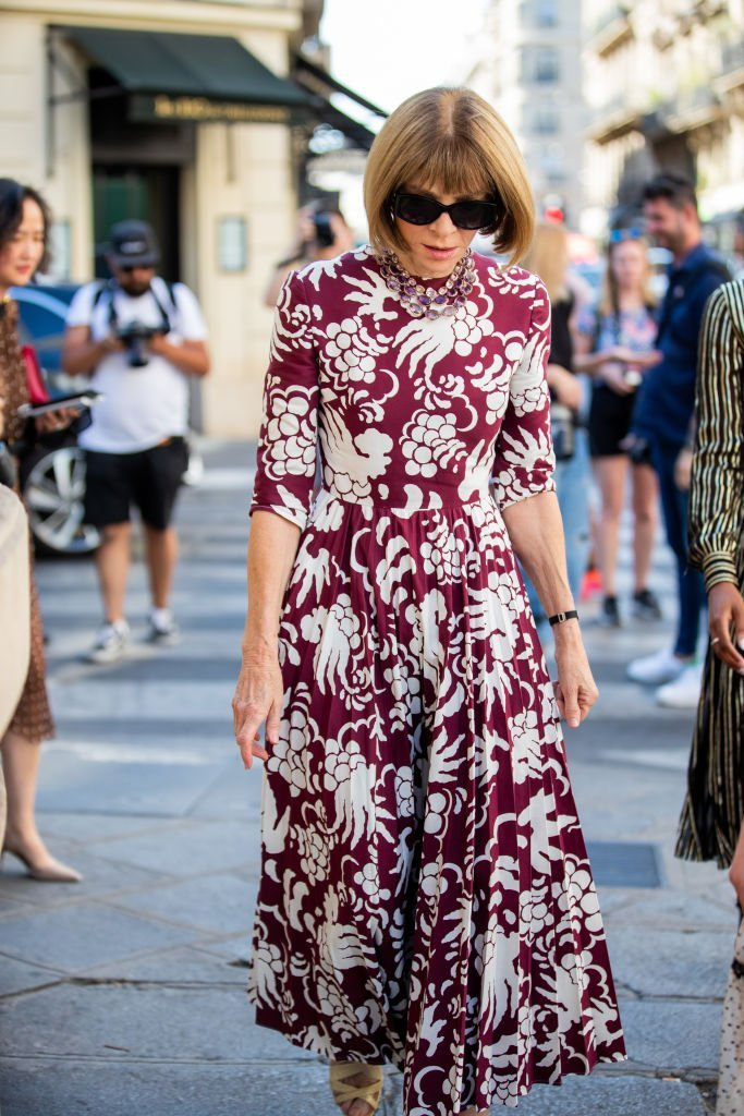 Anna Wintour is seen outside Valentino during Paris Fashion Week - Haute Couture Fall/Winter 2019/2020 | Photo: Getty Images