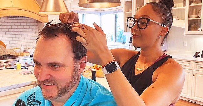 Tamera Mowry Cuts Husband Adam Housley's Hair in New Video Amid Self-Isolation, Fans and Celebs Weigh In