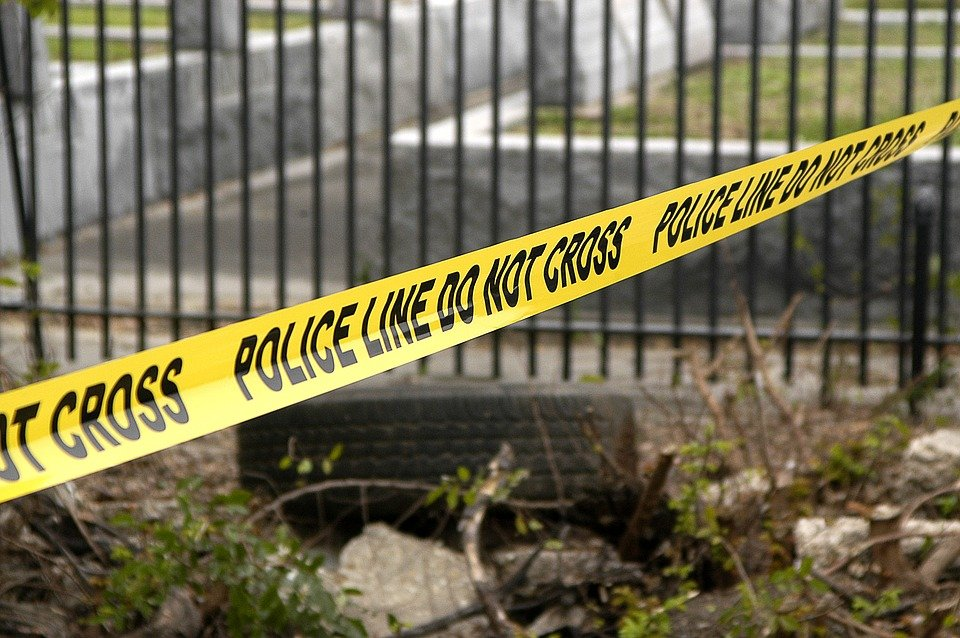 A police yellow tape at the scene of a crime | Photo: Pixabay