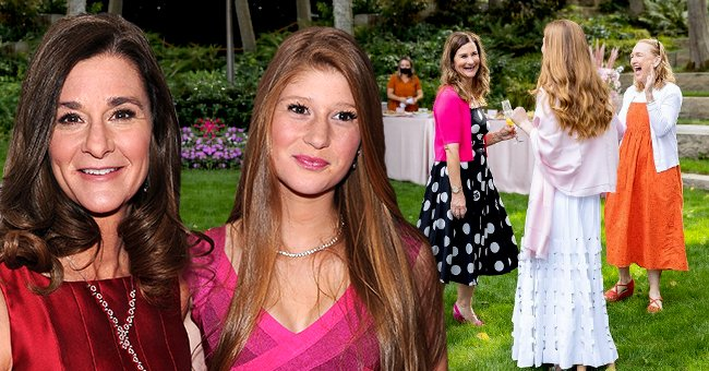 Melinda Gates and her daughter Jennifer Gates attends Glamour's 23rd annual Women of the Year Awards on November 11, 2013 in New York City, the next picture shows the mother and daughter duo at a bridal shower | Photo: Getty Images and Instagram/@jenniferkgates