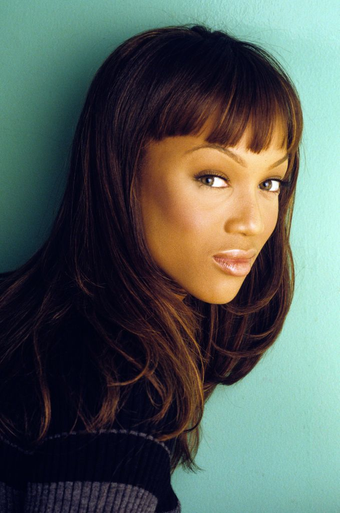 Tyra Banks posing for a portrait in 1997 in New York City | Source; Getty Images